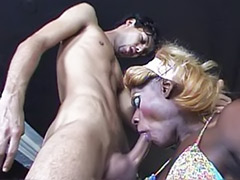Shemale massive, Shemale interracial, Shemale blonde interracial, Massive cum, Massive cock, Cum with shemale