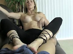 Stockings tease, Stocking tease, Sexy foot, Foot tease, Ballbustting, Ballbust