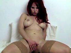 Fitting, Fit, Redhead stockings, Redhead masturbation, Redhead masturbate, Masturbating redheads