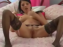 Solo stockings striptease, Evelyn, Black and solo