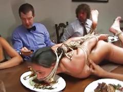 Tits bondage, Tit spank, Tit bondage, Squirt gangbang, Slave sex, Slave masturbate