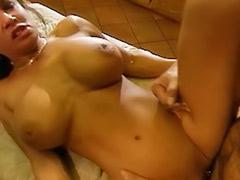 Lick big boobs, Sperm licking, Big sperm