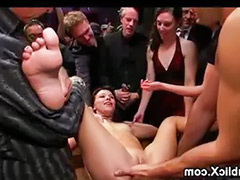 Public squirt, Squirt in public, Squirt gangbang, In bar, Gangbang squirt, Bar