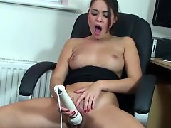 Suzy, Secretarys, Secretary masturbating, Naughty, Hitachi, Hardcore masturbation