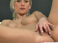 Hot blond striptease