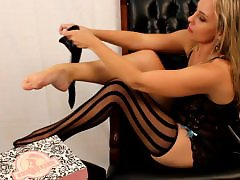 Stripping, Stripped, Strip, Stockings strip, Stockings heels, Stocking strip