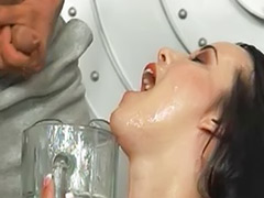 Swallow gangbang, Bukkake swallow, Amy, Cup