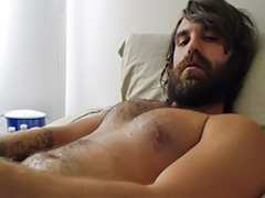 Solo male cumshots, Beard