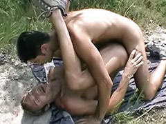 Two guys wanking, Wank with cum, Play gay, Cum kiss guy, Couple kiss with cum
