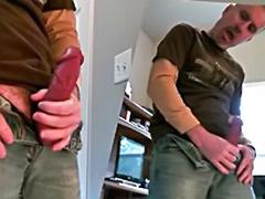 Mirror gay, Mirror masturbation, Stroking cock