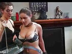 Public bondage, Lingerie bondage, Group lingerie, Back sex, Bound sex