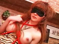 Remy, Masturbate while, Japanese while, Japanese blindfold, Japanese bondage, Hairy busty