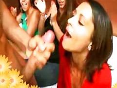 Interracial party, Girl man
