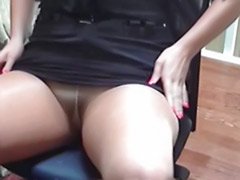 Uniform stockings, Pantyhose solo, Secretary tits, Secretary solo, Solo pantyhose, Solo office