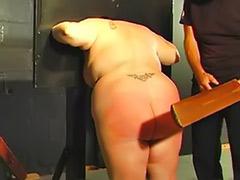Pillory, Fat bondage, Fat spanking