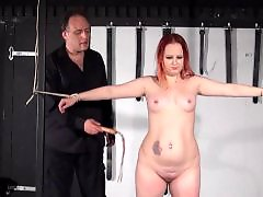 Whipping, Whip, Redhead bdsm, Redhead amateur, Slave bdsm, Bdsm slave