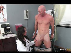 Patient, Doctors, Doctor سحاق, Doctor fuck, Brunette blowjob, Big doctor